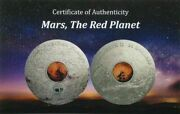 2017 20 Cook Islands Mars The Red Planet 3 Oz. Silver Coin Pcgsms70 Fd⭐v7⭐