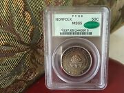 Pcgs 1936 Norfolk Ms-65 Cac Ogh