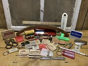 Vintage Junk Drawer Clean Out Flea Market Special Advertising 40 Items Smalls