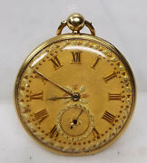 Fine Antique 18kt Gold Melly Brothers Pocket Watch Case Swiss Signed