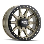 Dirty Life 9304 Dt-2 Bl 20x9 8x165.1 Et0 Satin Gold/simulated Bl Ring Qty Of 4
