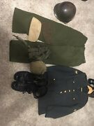 Misc. Military Group, Helmet, Canteen, Jump Boots, Suspenders, Gloves
