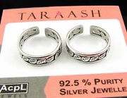 925 Solid Sterling Silver Handmade Oxidized Pair Of Girl Toe Rings - 1626