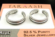 925 Solid Sterling Silver Handmade Oxidized Pair Of Girl Toe Rings - 1629