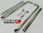 Obx Side Pipe Exhaust Kit With Heat Shield Fits 67 To 81 Chevy Camaro Firebird