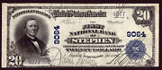 20 1902 Pb The First National Bank Of Stephen Minnesota Ch 9064 Very Fine