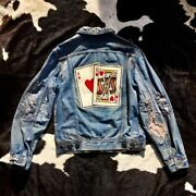 Suicide Kings Destroyed Distressed Supple Denim Patched Shashiko Boro Jacket M-l