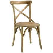 Country Farm House Modern Contemporary Dining Side Chair, Natural Wood, 5205