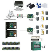 Magnetic Door Access Control System 4 Doors Track In And Out Alarm Module Keypad