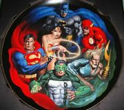 The Warner Brothers Gallery Collectors Edition Plate Justice League Plate 1154