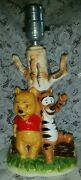 Rare Collectible Vintage Walt Disney Productions Winnie The Pooh And Tigger Lamp
