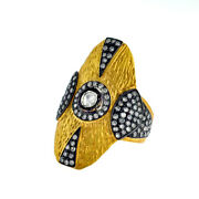 14kt Solid Yellow Gold Ring 1.30ct Diamond .925 Sterling Silver Fusion Jewelry