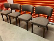 Set Of Four Mid Century Parisian Dining Chairs Circa 1940and039s. Orig 3500