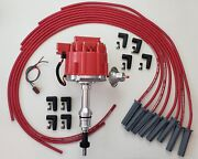 Ford Small Block 289 302 Red Hei Distributor + 8.5mm Universal Spark Plug Wires