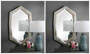 Two Turano Farmhouse Western Rustic Wood Xxl 36 Wall Vanity Mirrors Uttermost