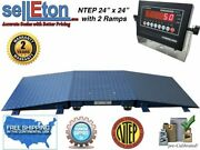 Floor Scale Ntep + 2 Ramp 24andrdquo X 24andrdquo 2and039 X 2and039 10000 Lbs X 2 Lb With Led Display