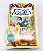 Disney - Snow White And The Seven Dwarfs Vhs 1994 Rare Masterpiece Collection