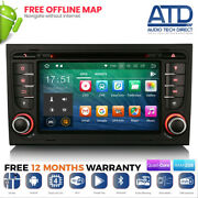 7 Android 10.0 Q Dab Gps Sat Nav Bluetooth Radio For For Audi A4 Rs4 S4 Rns-e