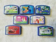 Leapster Leap Frog Games Lot Of 7 Used Finding Nemo Cars Dora