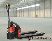 Fully Electric Pallet Truck Power Drive And Lift Li-ion Battery 1200kg Capacity