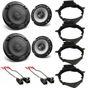 Kenwood Car Speakers 300w For Car Truck Front And Rear Door With Installation Kit