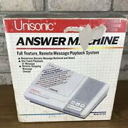 Unisonic Answer Machine Full Feature Remote Message Playback Model8719n - New