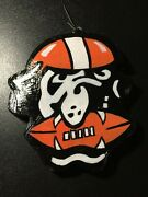 Dawg Cleveland Browns-hand Painted Ornament-1 Of 1 Dated-gift Boxed