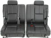2007-2014 Tahoe Yukon Rear 3rd Row Passenger And Driver Side Seat Black Leather