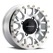 Vision Atv Gv8 Beadlock Invader 15x6 4x110 Et38 As-cast Machined Face Qty Of 4