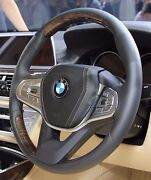 Bmw G11 G12 7 Series 2016+ Fineline Wood And Leather Steering Wheel Heated New
