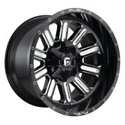 Fuel Hardline D620 Rim 18x9 8x180 Offset 20 Gloss Black And Milled Quantity Of 4