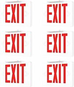 6 Pack Led Emergency Exit Light Sign - Battery Backup Ul924 Fire Red