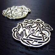 Celtic Dragon Charms 29mm Antiqued Silver Plated Pendants C3770 - 5 10 Or 20pcs