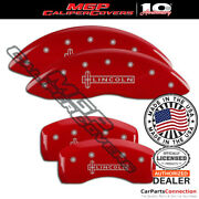 Mgp Caliper Brake Cover Red 36024slcnrd Front Rear For Lincoln Continental 18-19
