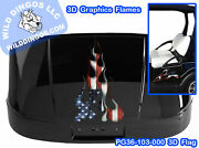 3d Graphics Flame Decal Kit Golf Cart Lawn Mower Tractor Utv Rc Atv Motorcycle