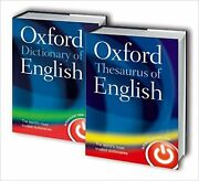 Oxford English Dictionary And Thesaurus Set Very Rare And Sought After Pair