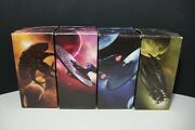 Star Trek Collectible Glasses Set 4 2008 Spock Uhura Nero Kirk Wrapped Etched