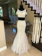 478 Nwt Two Piece La Femme Prom/pageant/wedding/formal Dress/gown 22339 Size 0