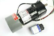 Maxi-torq 6z073 Split Capacitor Gear Motor W/ Magnetic Brake And Capacitor