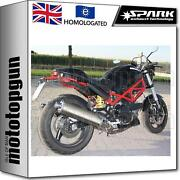 Spark 2 Exhaust Low Approved Titanium Oval Ducati Monster 750