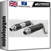 Spark 2 Exhaust High Approved Carbon Round Ducati Monster 600 1994 94 1995 95