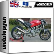Spark 2 Exhaust Low Approved Titanium Round Ducati Monster 600 1996 96 1997 97