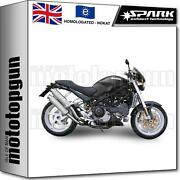 Spark 2 Full System Exhaust 45° Nocat Approved Round Ducati Monster S4r 2007 07