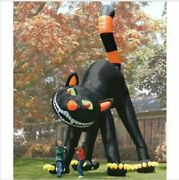 20ft Lovely Animated Giant Inflatable Black Cat For Halloween Decoration Y