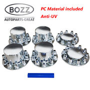 Front And Rear Axle Cover Combo Kit Chrome 33 Mm Thread-on - W/ Nut Cover Tool