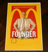 Director John Lee Hancock Signed The Founder 12x18 Movie Poster