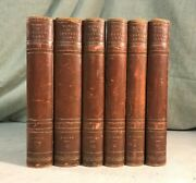 Works Of Charles Lamb Antique Leather Bound Books Decor Shabby Chic
