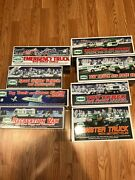 8 New Box Hess Truck Collection 1998, 1999, 2004, 2005, 2007, 2008, 2011, 2012