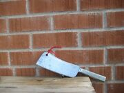 Antique 7 Blade X 9 Oz. American Cutlery Company Carbon Cleaver Knife Usa