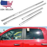 For 2005-2015 Toyota Tacoma Double Cab Stainless Steel Chrome Window Door Sill